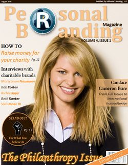 Philanthropy issue of Personal Branding Magazine